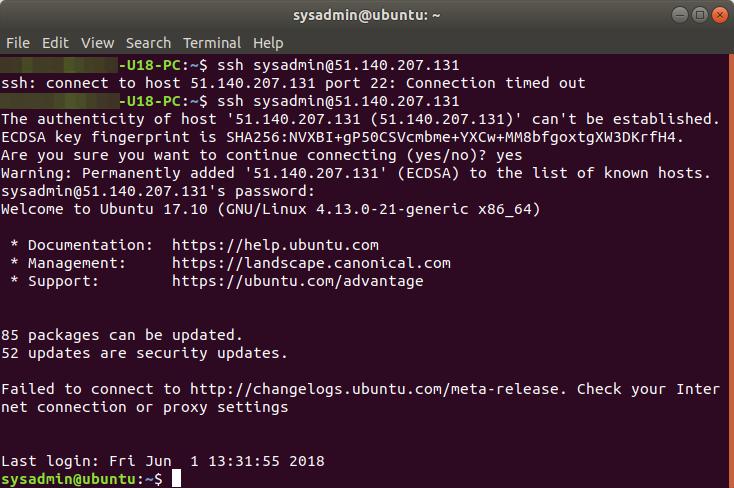 Restore VMware Linux Virtual Machine to Azure VM